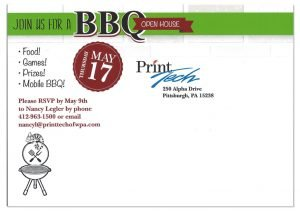 BBQ Open House Postcart