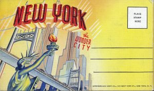 New York post card designed with alignment and hierarchy