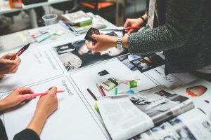 Marketing team segmenting campaigns to appeal to a widespread audience
